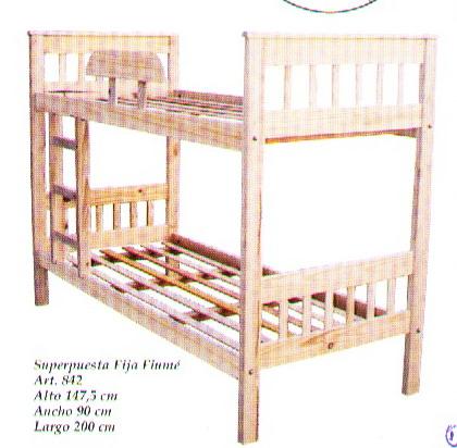 Muebles infantiles cama superpuesta con tablas verticales for Camas puente infantiles