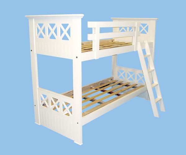 Muebles Infantiles - Camas Superpuestas Línea Cruz ( Laqueadas )