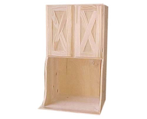Alacena Con Puertas Modelo En Cruz Para Vidrio