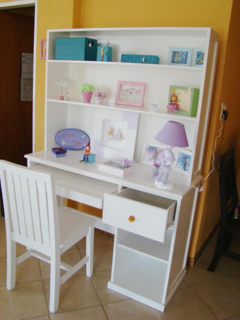 Muebles infantiles escritorio con alzada modelo melanie for Pegatinas infantiles para muebles