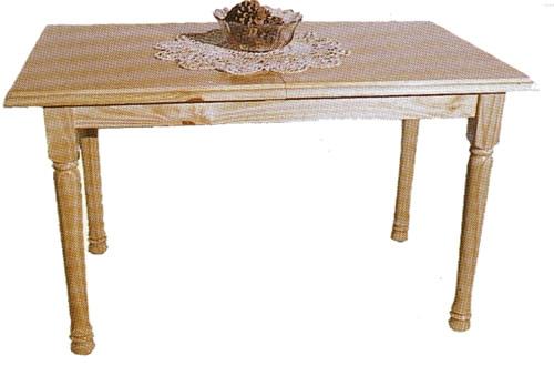 Mesa trampa con moldura y patas torneadas