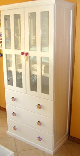 Muebles infantiles ropero modelo melanie laqueado for Mueblerias on line