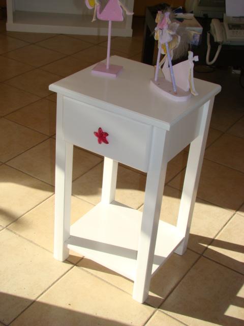 Muebles Infantiles-Mesa de Luz ( Modelo Nadia )
