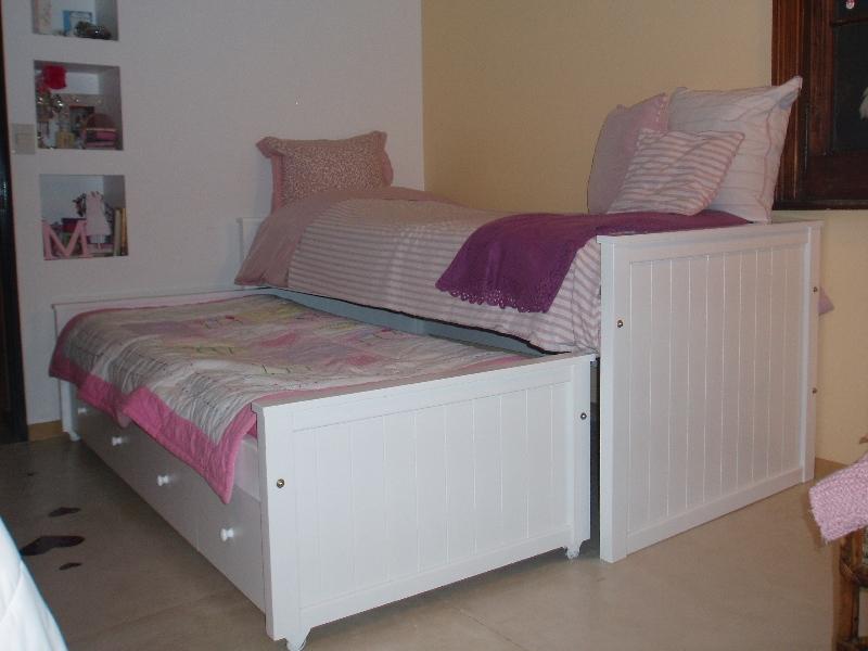 Muebles infantiles camas nido con cajonera opcional carro cama laqueadas - Cajonera bajo cama ...