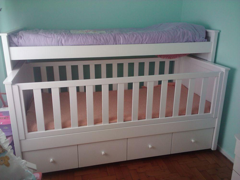 Muebles infantiles cama nido con cuna funcional y - Camas nido infantiles ...