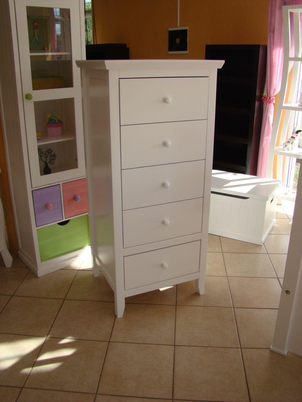 Muebles infantiles chifonier juvenil 5 cajones - Comodas juveniles ...