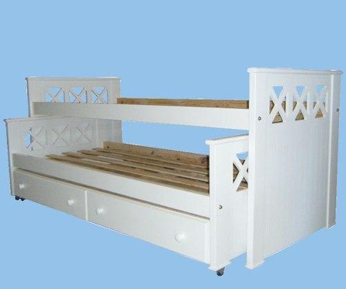 Muebles infantiles camas nido modelo cruz con cajones laqueada - Camas nido infantiles ...