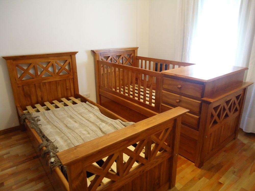 Muebles Infantiles - Cuna funcional tablero cruz ( Lustrada ) Sin ...
