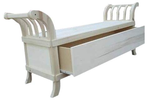 Banco pie de cama zapatero modelo romano - Baul zapatero ...