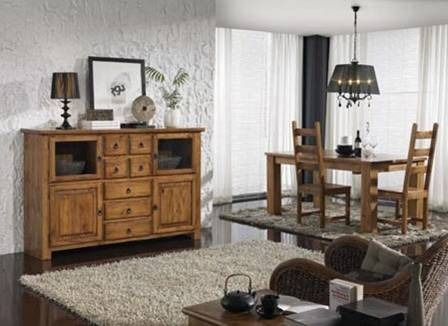 Bajo living estilo country - Muebles estilo country ...