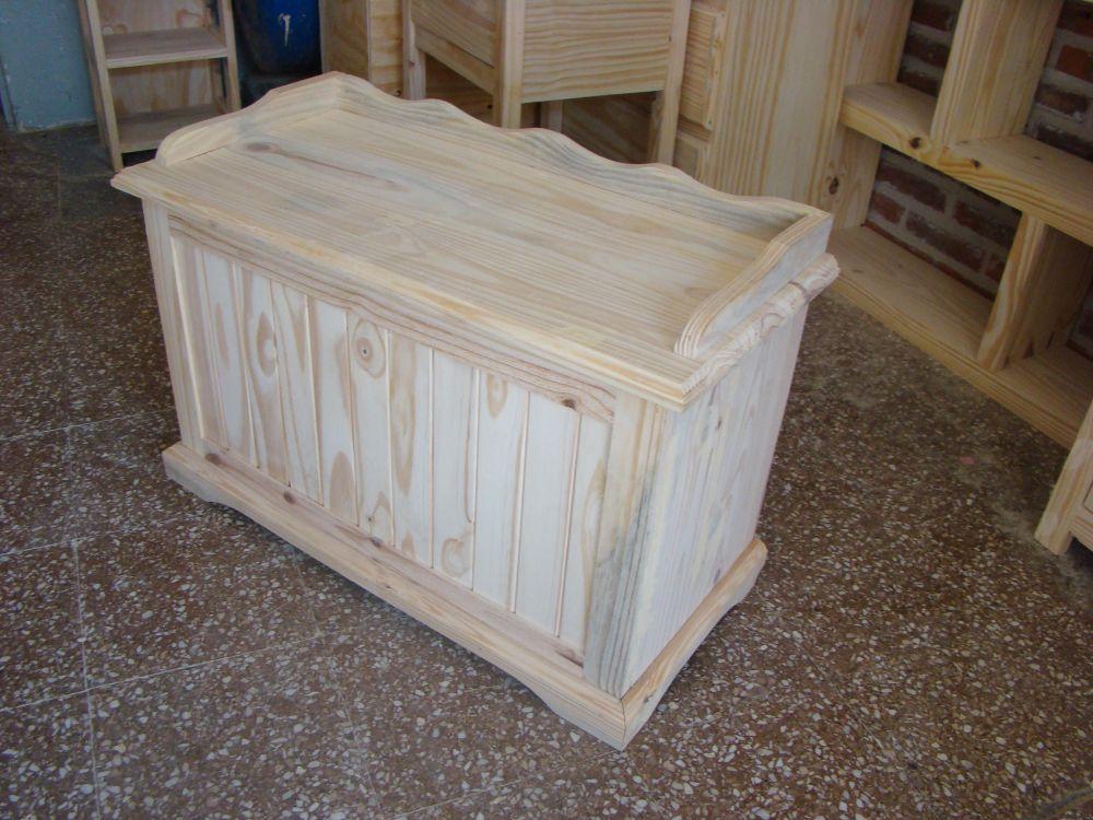 Muebles infantiles baul guardajuguetes con asiento en - Baul con asiento ...