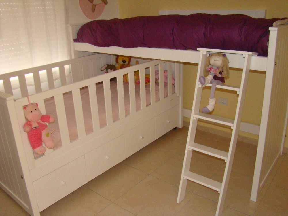 Muebles infantiles cuna funcional cajonera cama nido for Camas nido infantiles
