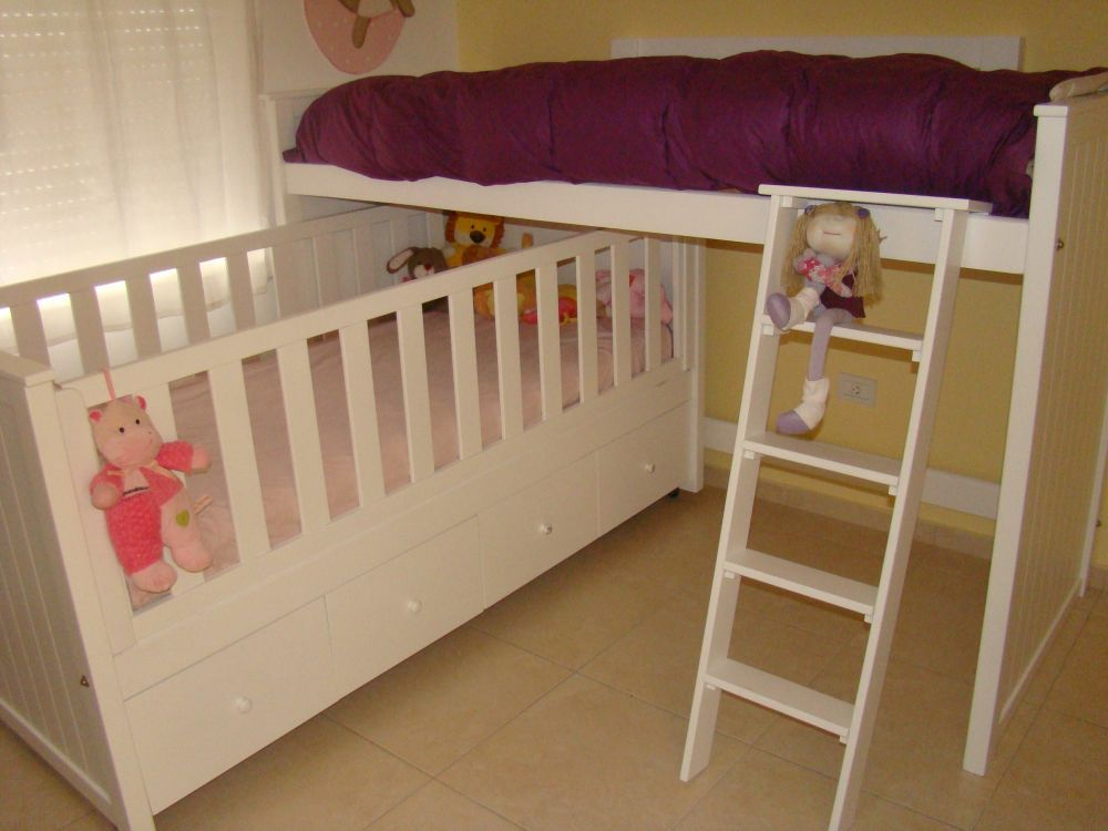 Muebles infantiles cuna funcional cajonera cama nido - Camas nido infantiles ...