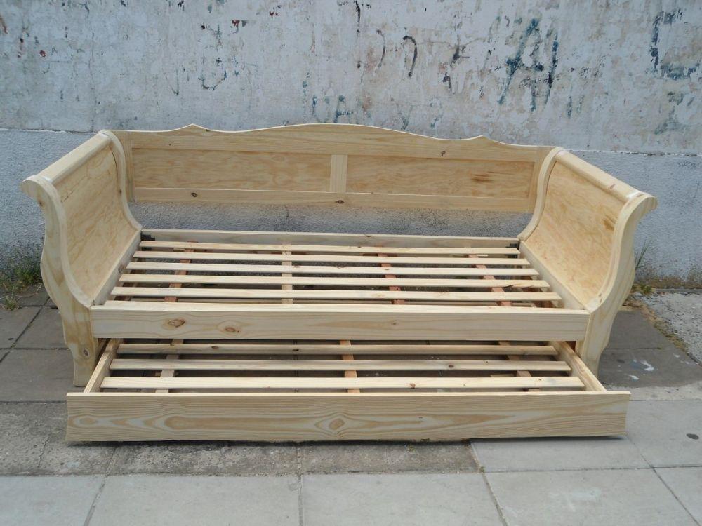 Div n cama con respaldo y en crudo en vivibarbera - Camas supletorias y divanes ...
