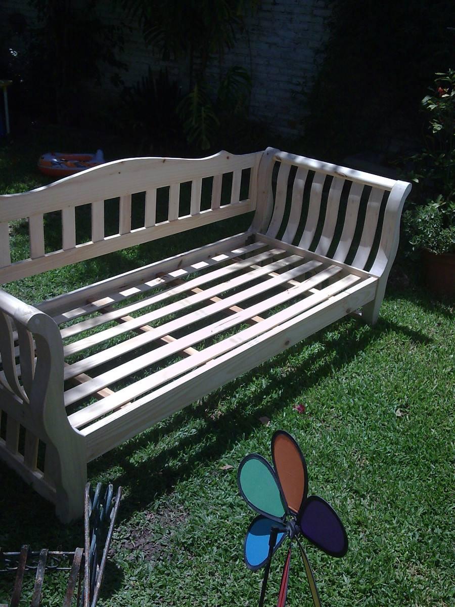 Muebles infantiles divan cama con respaldo m en crudo - Cama tipo divan ...