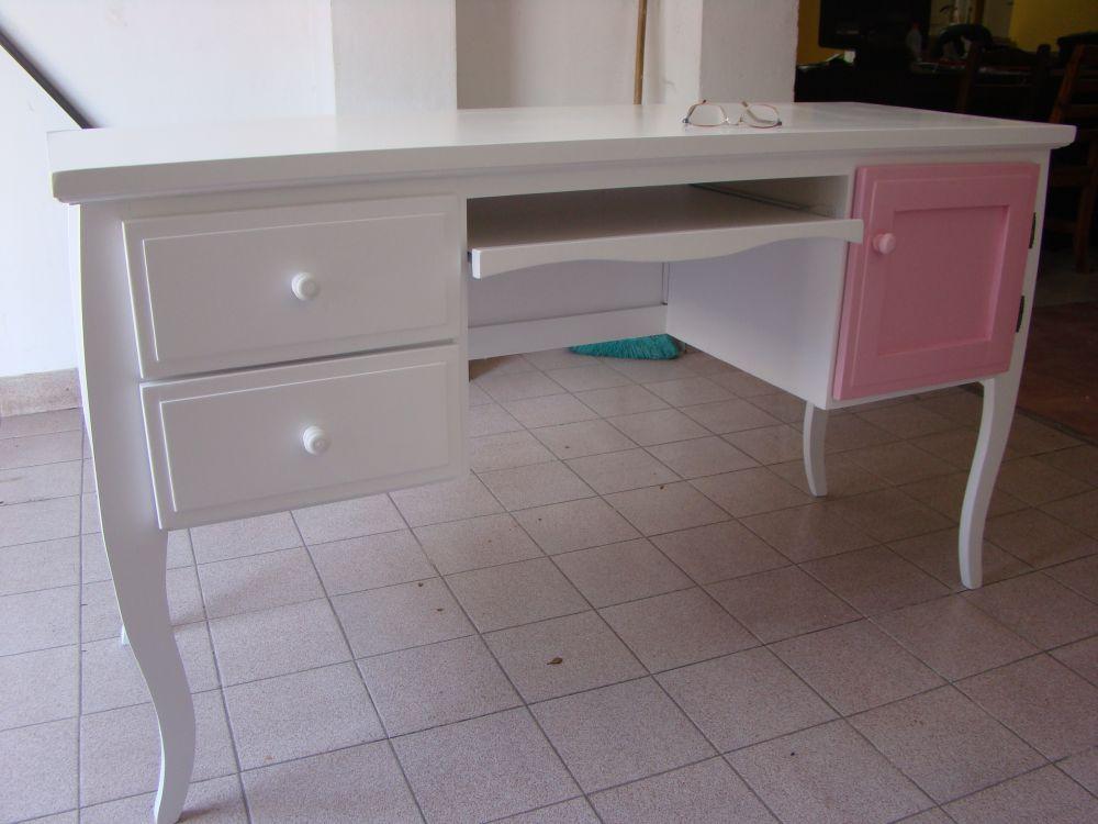 Muebles infantiles escritorio vintage con terminacion - Muebles en crudo para pintar ...