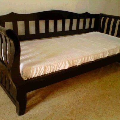Muebles infantiles divan cama con respaldo m en crudo - Camas divanes juveniles ...