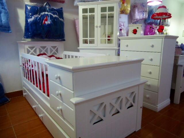 Muebles Infantiles - Cuna funcional romana C/ Cajonera ( laqueada )