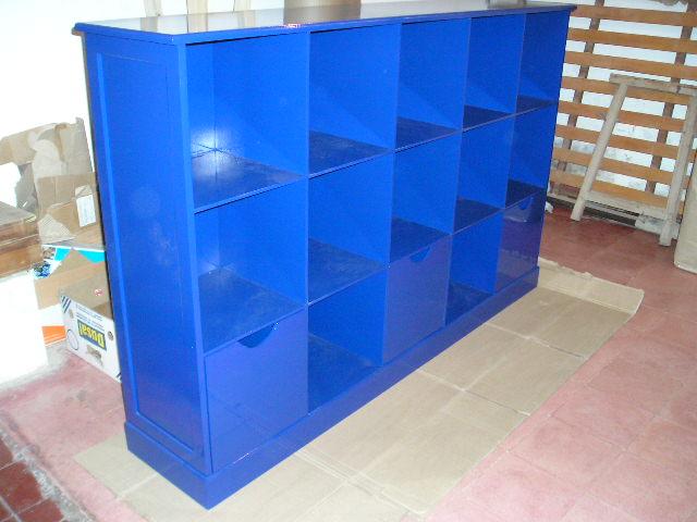 Muebles infantiles mueble organizador con cajones for Mueble organizador