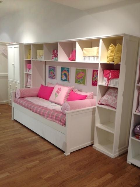 Muebles infantiles div n cama americano paula laqueado con carro cama - Camas supletorias y divanes ...