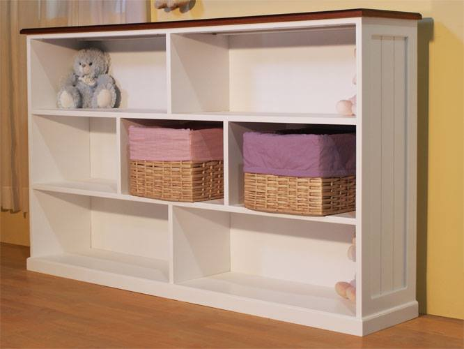 Muebles infantiles biblioteca baja modelo melisa laqueada for Bibliotecas muebles