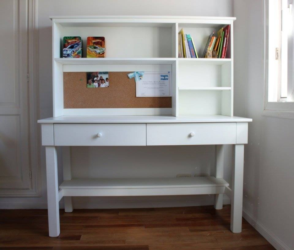Muebles infantiles escritorio modelo daisy con alzada for Muebles para escritorio