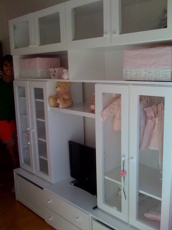Muebles infantiles placard modular juvenil laqueado for Modelos de dormitorios para ninos