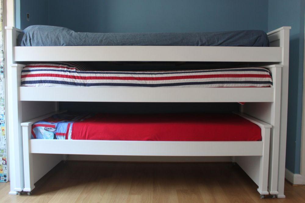 Muebles infantiles camas nido 3 camas laqueadas for Muebles lufe cama nido