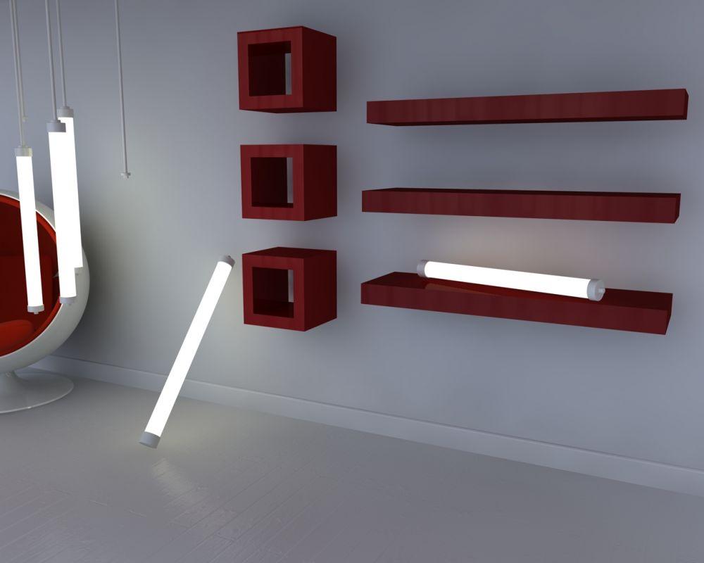 Muebles infantiles estante flotante laqueado - Repisas de pared modernas ...