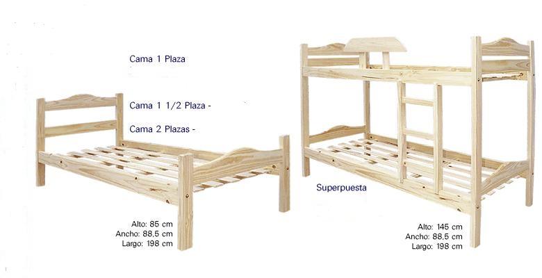 Muebles infantiles cama 1 plaza modelo madrid economica for Precio de cama de 1 plaza