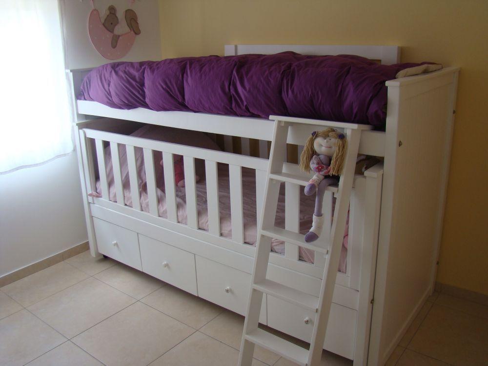 Muebles infantiles cama nido con cuna funcional y cajonera - Cama nido infantil ...