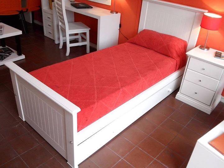 Muebles infantiles cama 1 plaza modelo faby laqueada en for Precio cama 1 plaza