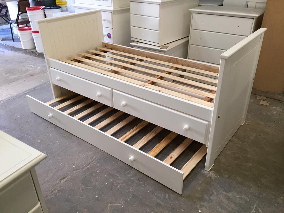 Muebles infantiles cama nido con cajonera y carro cama for Camas nido infantiles