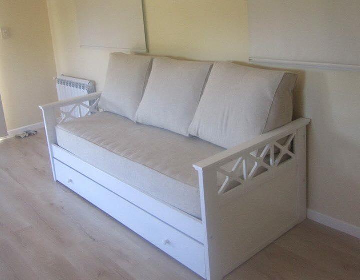 Muebles infantiles div n romano laqueado sin carro - Cama tipo divan ...