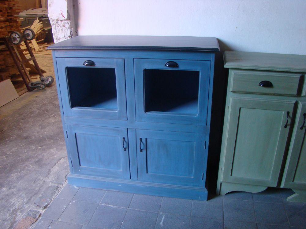 Mueble bajo para cocina - Muebles estilo rustico moderno ...