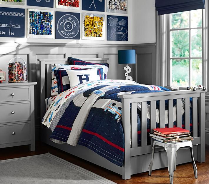 Muebles Infantiles - Cama Modelo Póttery Barn Laqueada en Blanco