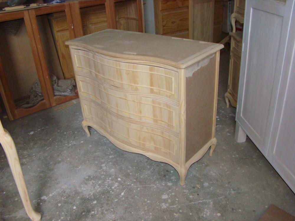 Muebles infantiles c moda estilo luis xv en crudo - Muebles en crudo ...
