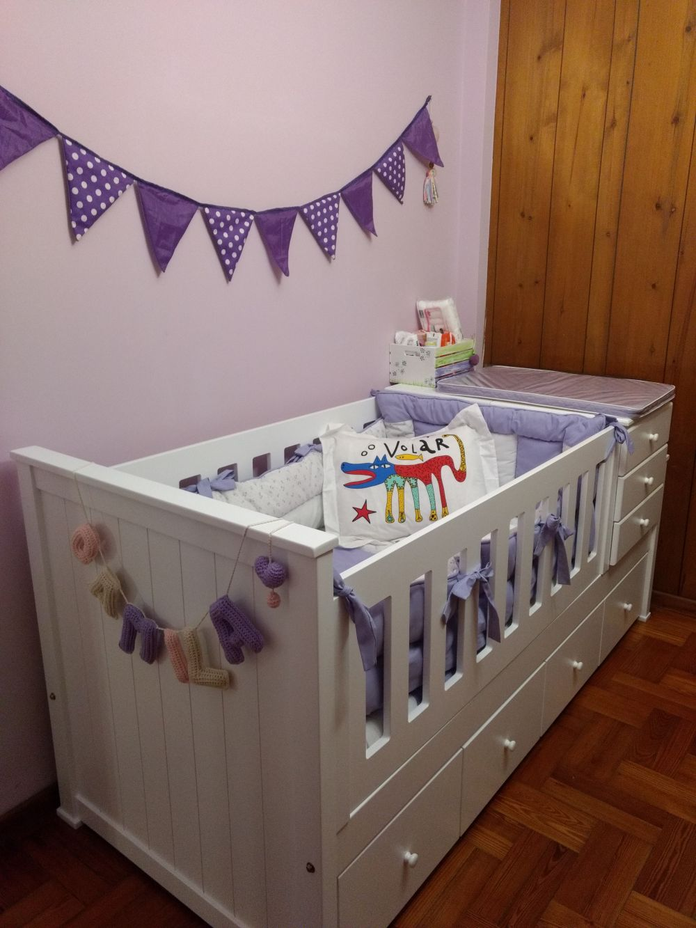 Infantiles Juveniles Cunas Funcionales # Muebles Laqueados Infantiles